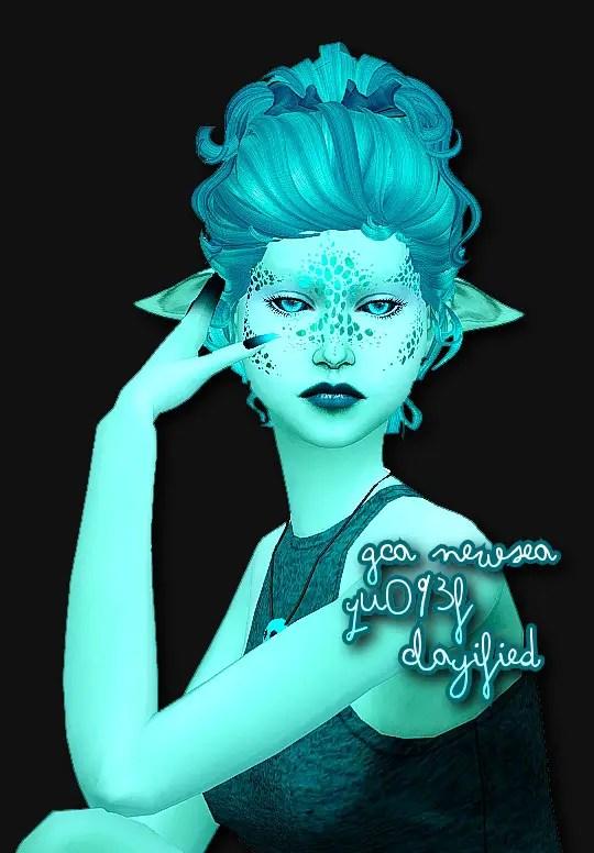 Sims 4 Hairs Simsworkshop NewSeas YU093f Clayified