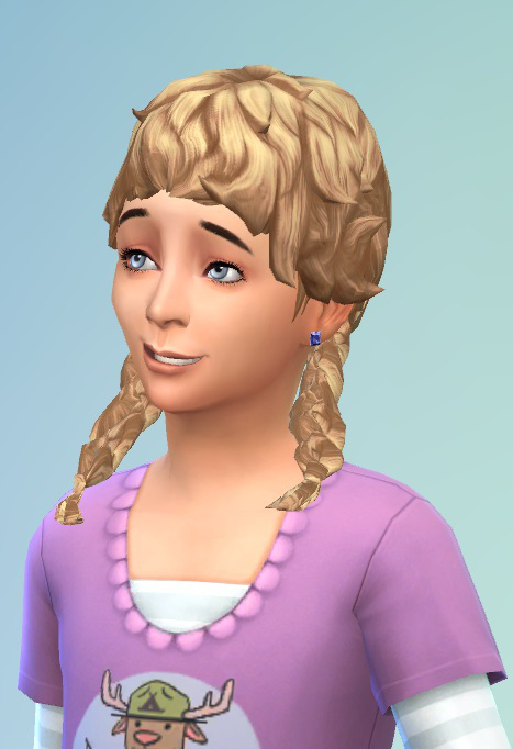Sims 4 Hairs Birksches Sims Blog Girly Curl Pigtails