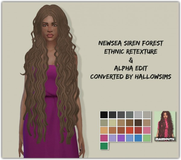 Sims 4 Hairs Simsworkshop Siren Forest Hair Ethnic