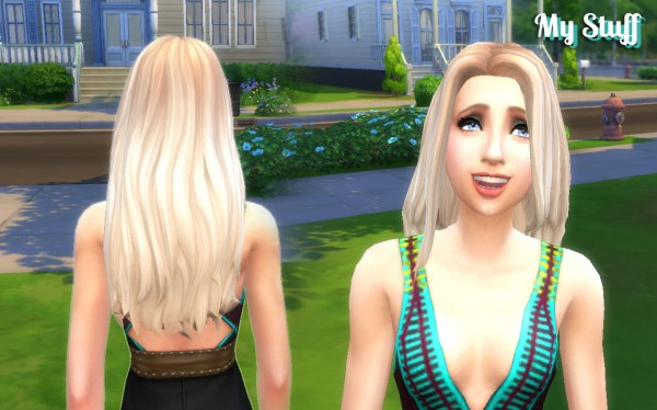 Sims 4 Hairs Mystufforigin Gorgeous Hairstyle Ombre