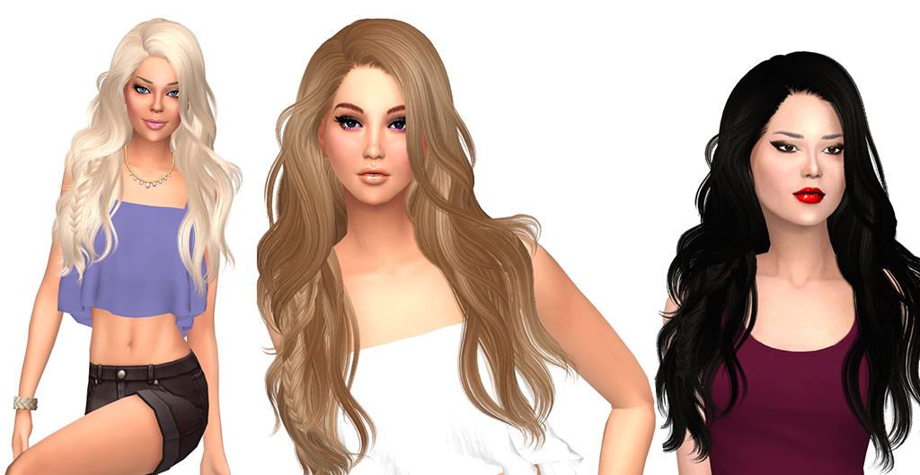 Sims 4 Hairs Sims Fun Stuff Newseas Titanium Hair Recolor
