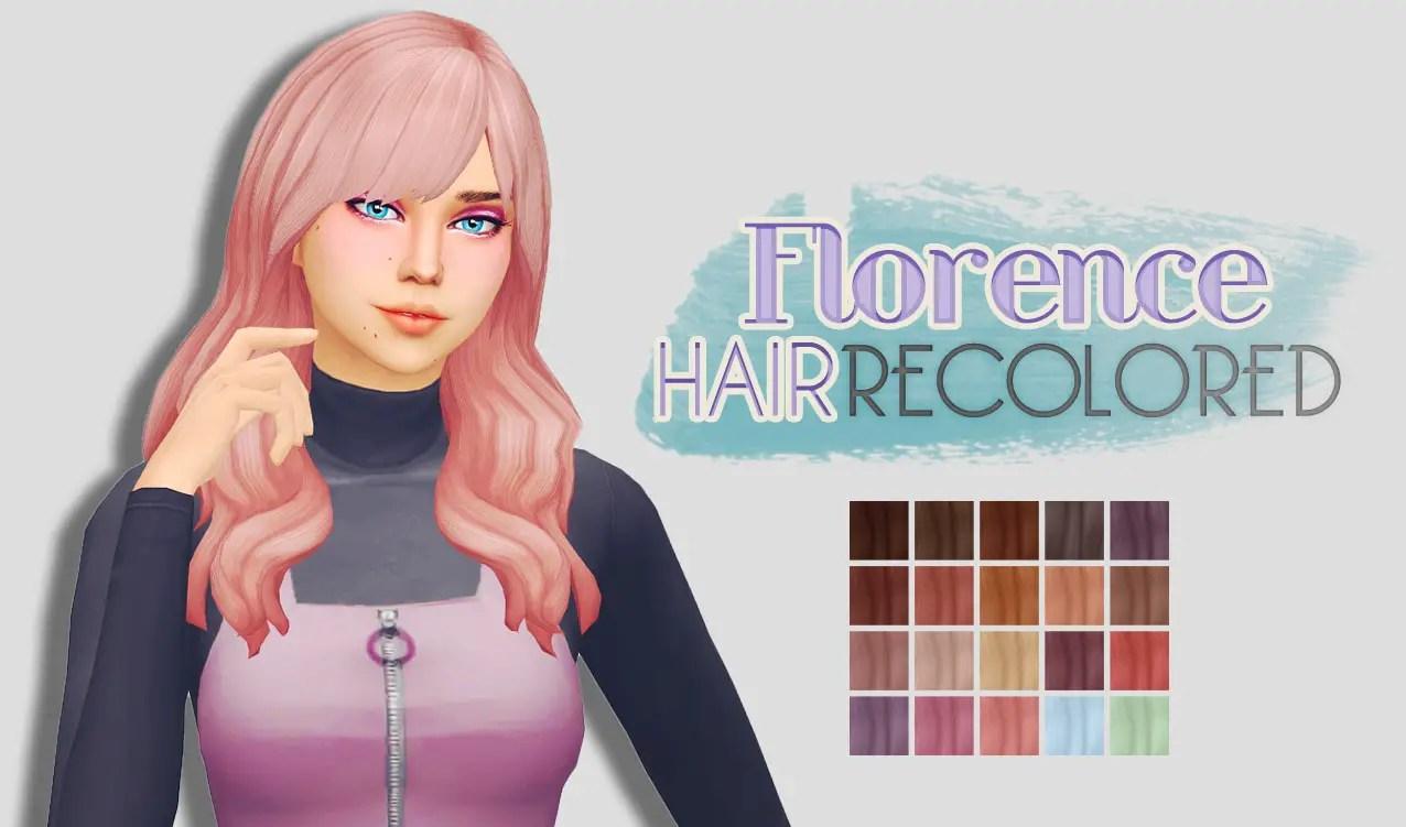 Sims 4 Hairs Whoohoosimblr Florence Hair Recolored