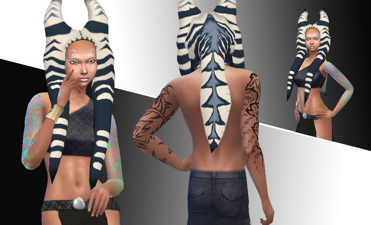 Sims 4 Hairs Mystufforigin Togruta Hair Conversted