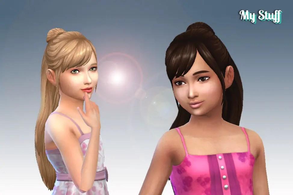 Sims 4 Hairs Mystufforigin Natalie Hairstyle For Girls