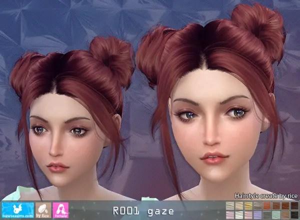Sims 4 Hairs NewSea R001 Gaze Hair