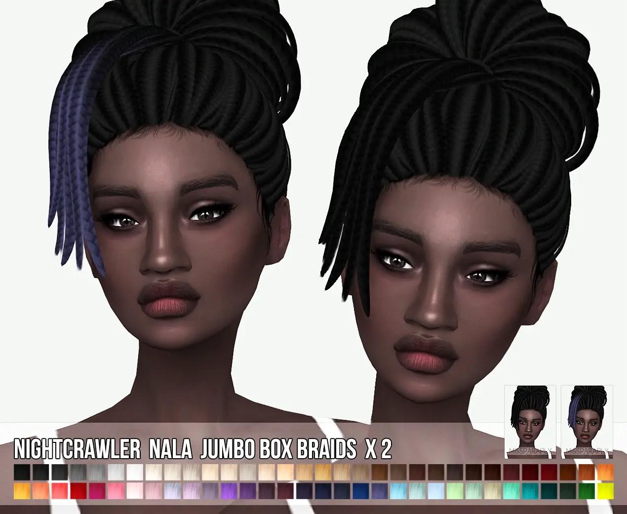 Sims 4 Hairs Miss Paraply Nightcrawlers Nala Jumbo Box