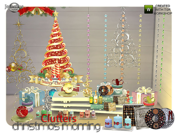 Christmas Morning Clutters By Jomsims At Tsr