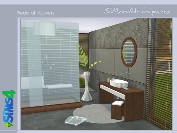 Piece Of Heaven Bathroom By SIMcredible At TSR Sims 4