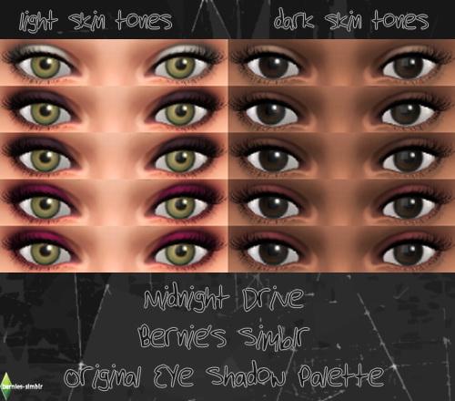 Midnight Drive Eyeshadow At Bernies Sims 4 Simblr Sims