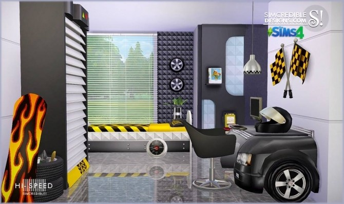Hi Speed Kids Bedroom At SIMcredible Designs 4 Sims 4