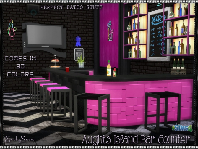 Aughts Island Bar Counter At SrslySims Sims 4 Updates