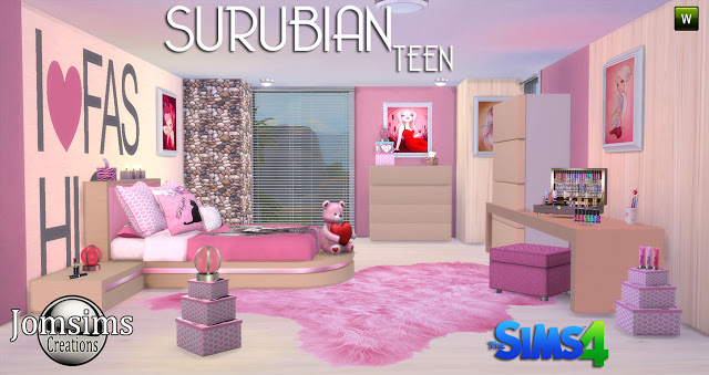 SURUBIAN Teenroom At Jomsims Creations Sims 4 Updates
