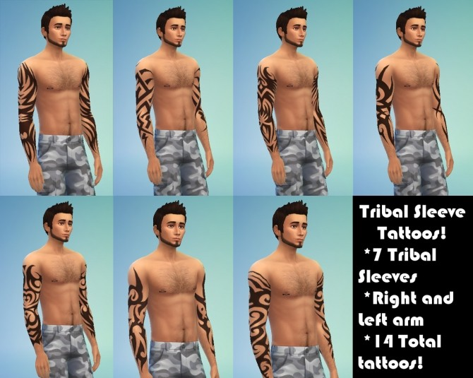Tribal Sleeve Tattoos By Kitty25939 At Mod The Sims