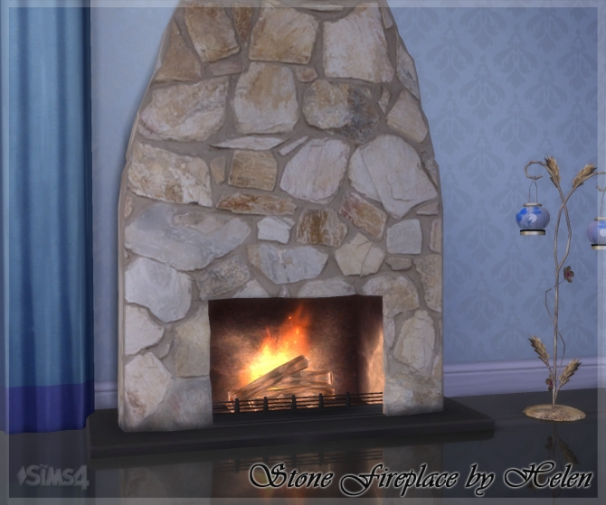 Stone Fireplace At Helen Sims Sims 4 Updates