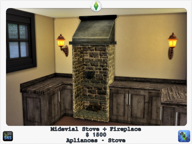 Medieval Stove Fireplace By Design 4 Sims At Sims 4 Studio Sims 4 Updates