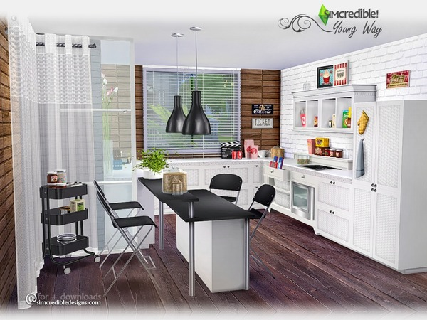 Young Way Kitchen Simcredible Tsr 960 Sims Updates
