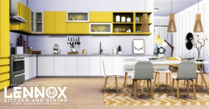 Lennox Kitchen And Dining Set At Simsational Designs Sims 4 Updates