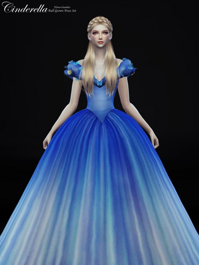 Cinderella Ball Grown Poses Set At Flower Chamber Sims 4