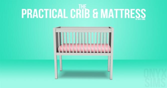 The Practical Crib Amp Mattress At Onyx Sims Sims 4 Updates