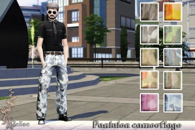 Camouflage Cargo Pants By Delise At Sims Artists Sims 4