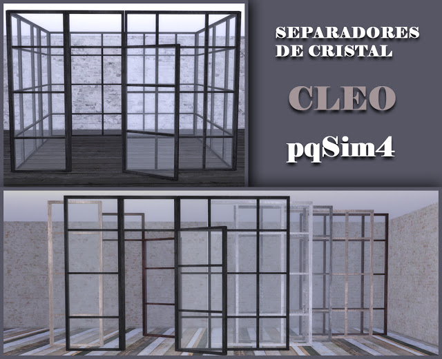 Cleo Glass Dividers At PqSims4 Sims 4 Updates