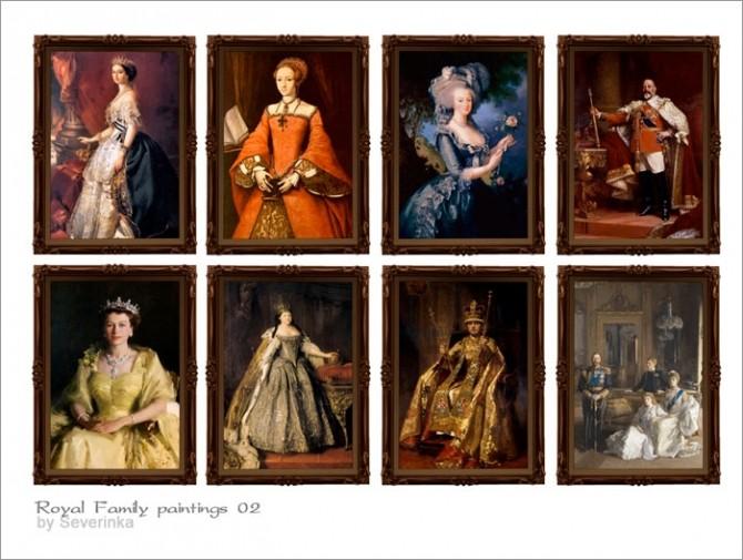 Royal Family Paintings At Sims By Severinka Sims 4 Updates