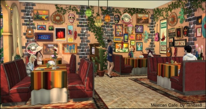 Mexican Cafe And Restaurant At Tanitas8 Sims Sims 4 Updates