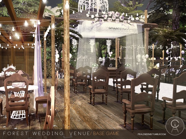 Forest Wedding Venue By Pralinesims At TSR Sims 4 Updates