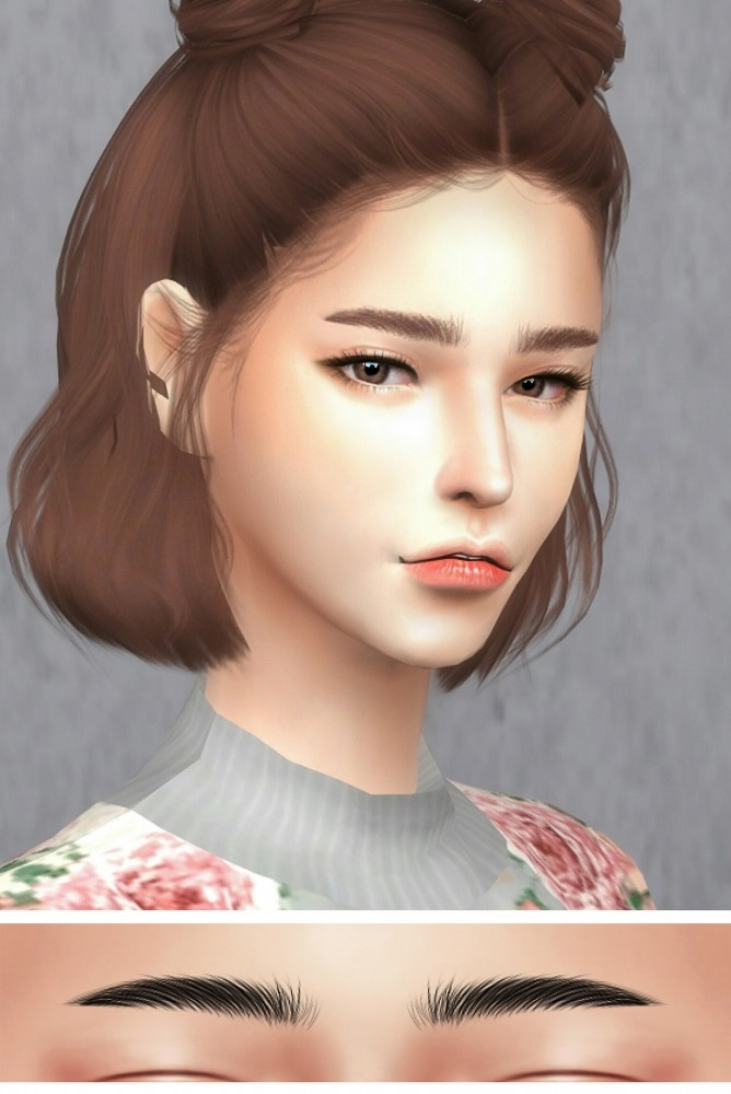 GPME F Eyebrows 1 Set At GOPPOLS Me Sims 4 Updates