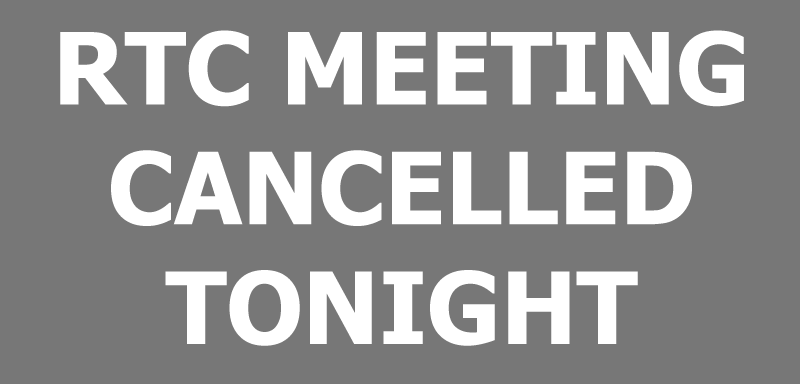 Meeting Cancelled 3-7-2018