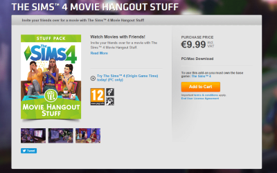 The Sims 4 Movie Hangout Stuff NOW AVAILABLE ON ORIGIN!