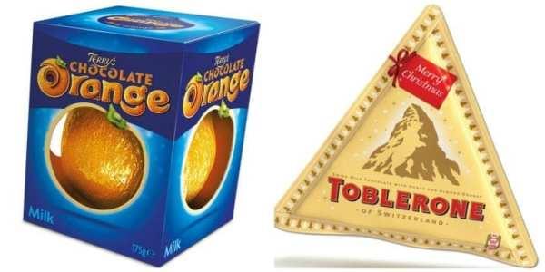 Terrys Chocolate Orange and Toblerone