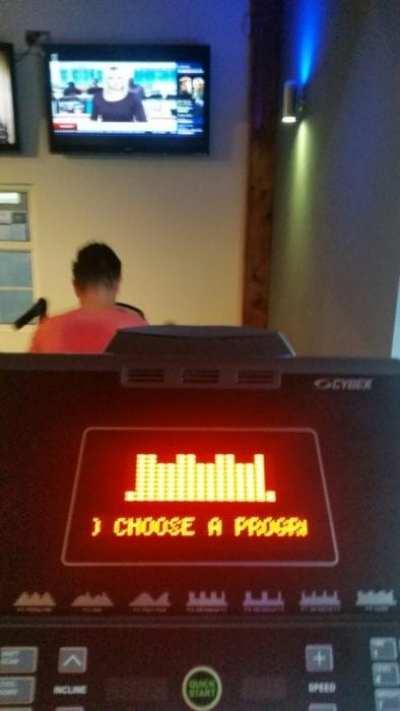 Rather shaky treadmill pic!