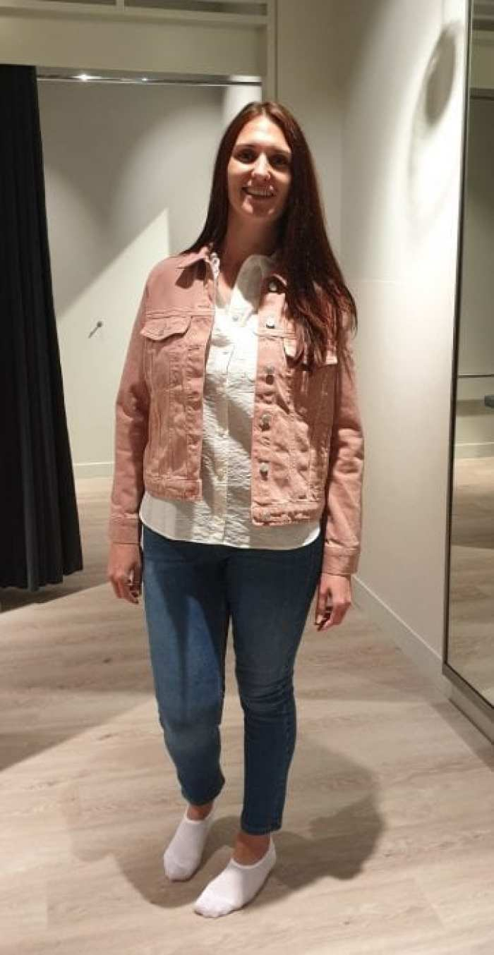 M&S pink denim jacket