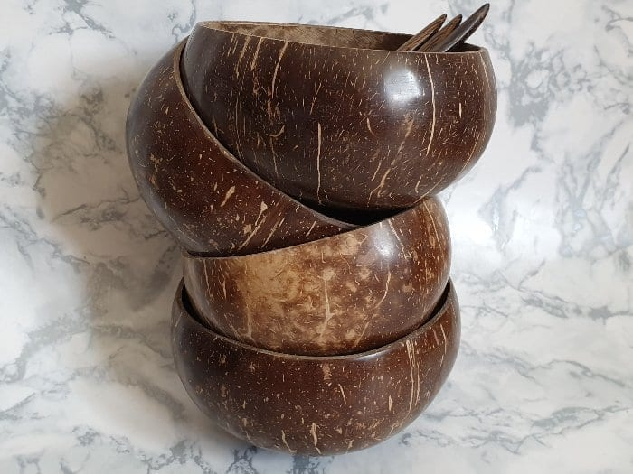 stacked thai coconut bowls
