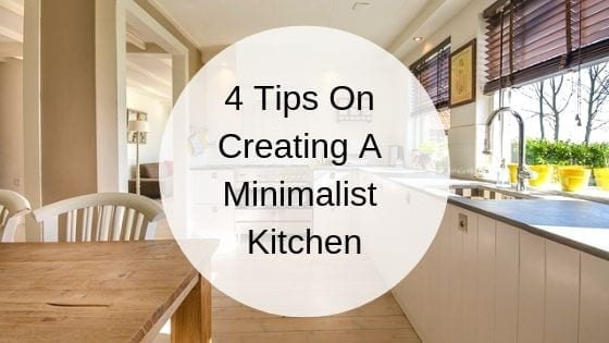 creating a minimalist kitchen