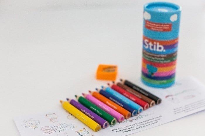 Stib Inspirational Mini Colouring Pencils