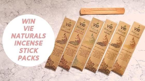 Vie Naturals Incense Stick Giveaway