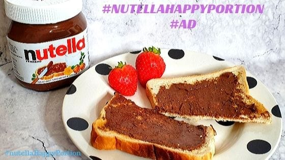 Family breakfast time with nutella