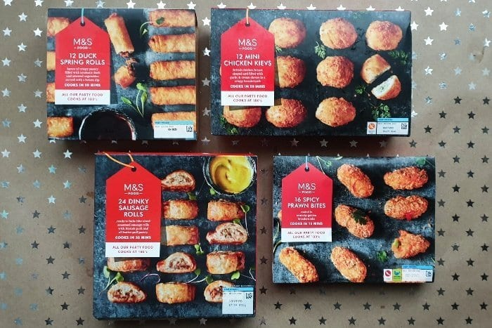 M&S Frozen party food