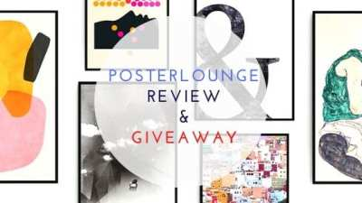 Posterlounge review and giveaway title