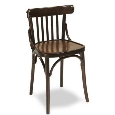 silla de interior de madera barnizada tapería