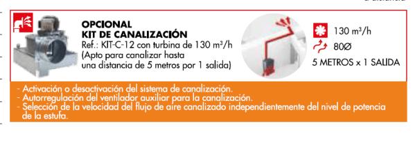 estufa pellets boreal-12 kit canalización
