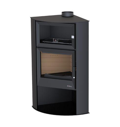 estufa rincón de leña con horno boreal EH7000