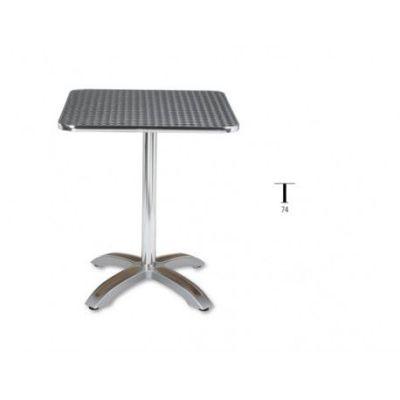 mesa cuadrada aluminio terraza hostelería m404