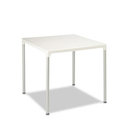 mesa exterior cuadrada polipropileno m3520 blanco