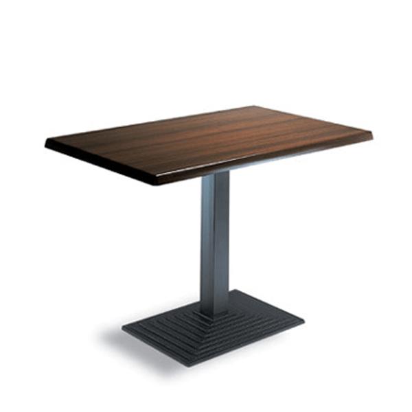 mesa rectangular base de hierro hostelería interior m369