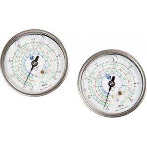 Manómetros Ø80 MM Wigam Glicerina Conexión Posterior y Brida