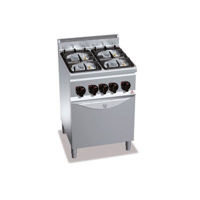 Cocina industrial 4 fuegos a gas y horno Berto's G6F4PW+FG1