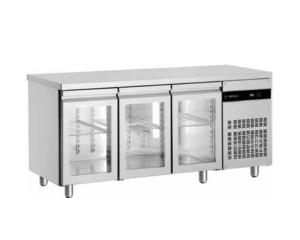 Mesa refrigerada y bajo mostrador gastronorm puerta cristal mrc 3 er bmc 3 er